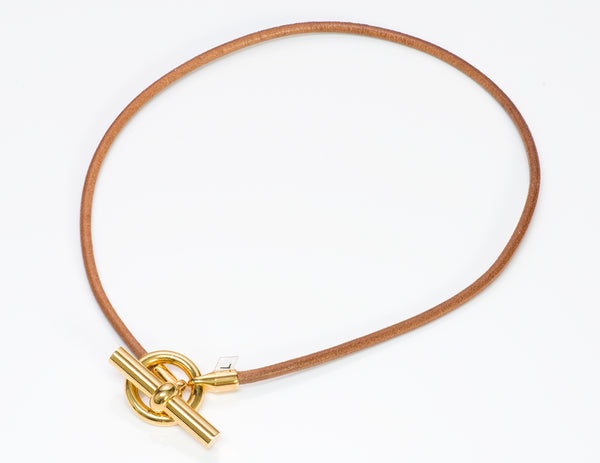 Hermès Paris Leather Necklace