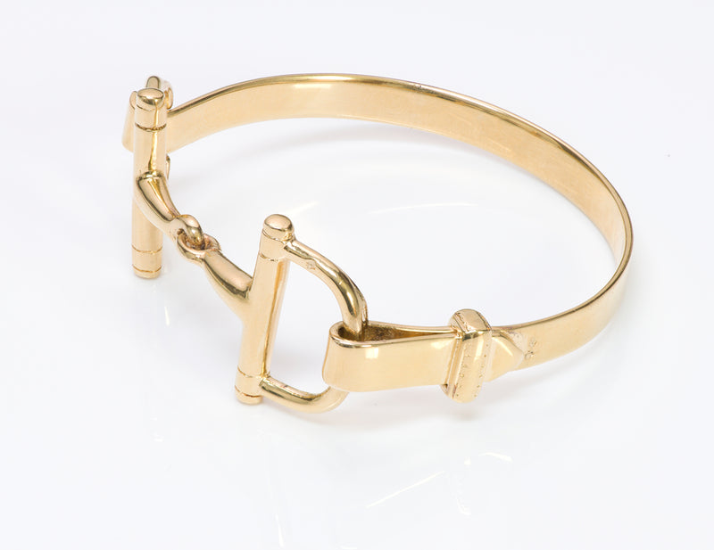 French Gilt Silver Horsebit Bracelet