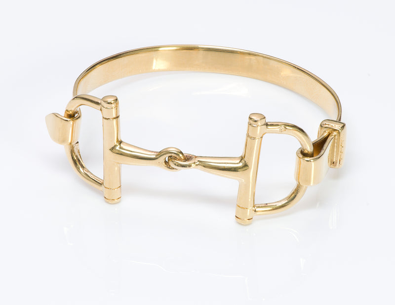 Vintage French Gilt Silver Horsebit Bracelet