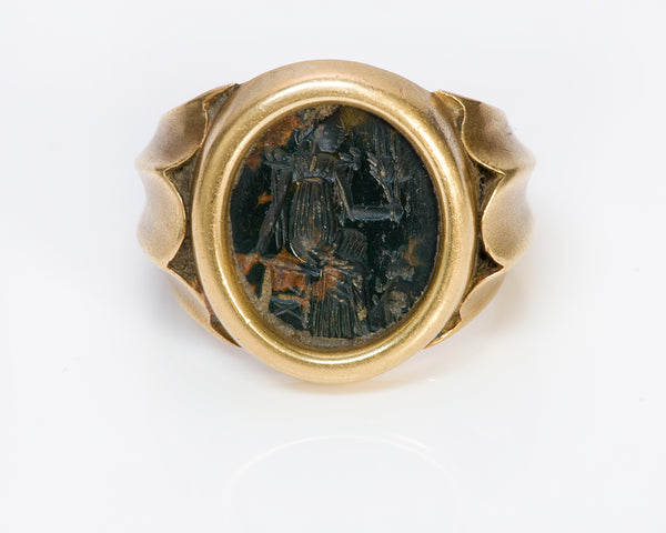 Ancient Intaglio Gold Men's Ring