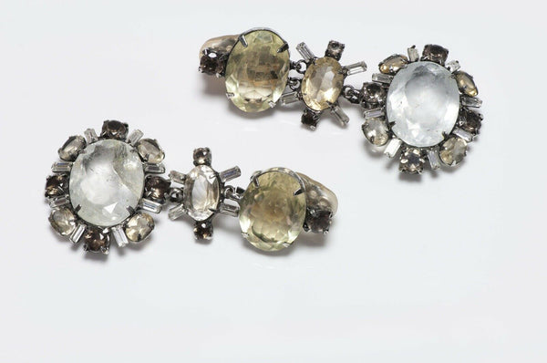 Iradj Moini Lemon Quartz Rock Crystal Earrings