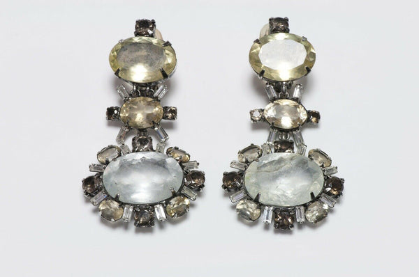 Iradj Moini Long Lemon Quartz Rock Crystal Earrings
