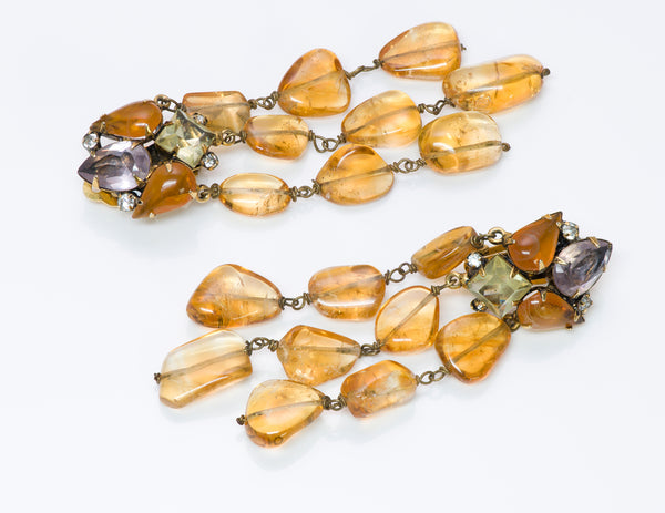 Iradj Moini Citrine Long Drop Earrings