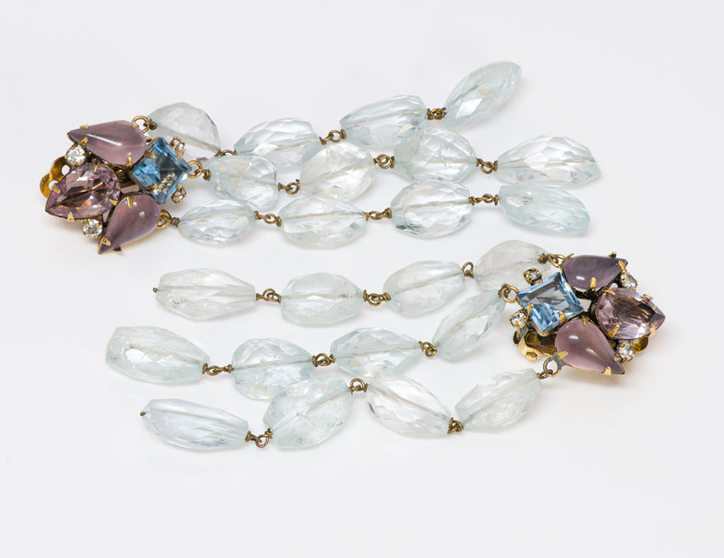 Iradj Moini Aquamarine Amethyst Earrings