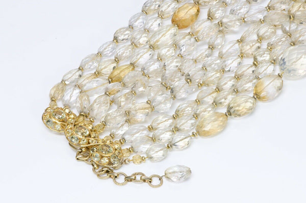 Iradj Moini Citrine Multi Strand Collar Necklace1