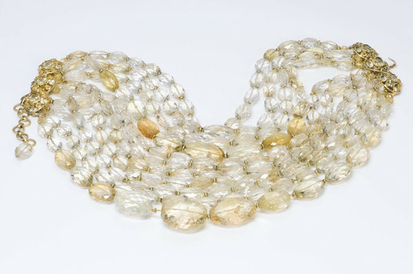 Iradj Moini Citrine Multi Strand Collar Necklace