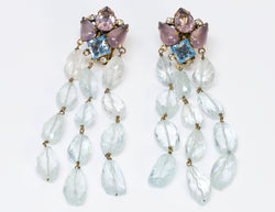 Iradj Moini Aquamarine Amethyst Drop Earrings