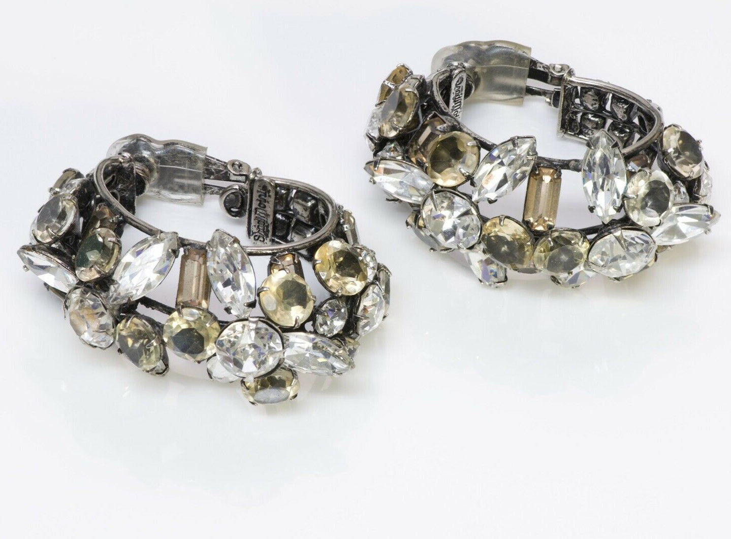 Iradj Moini Large Crystal Hoop Earrings