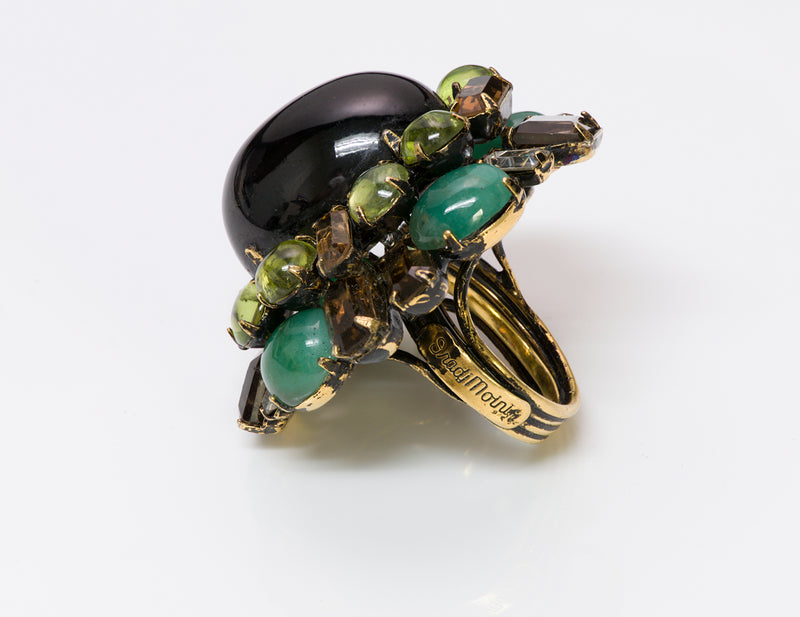Vintage Iradj Moini Topaz Poured Glass Cocktail Ring