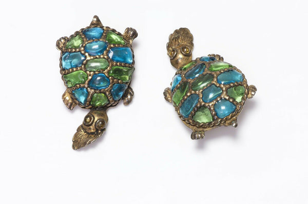 Isabel Canovas AGLAE Glass Turtle Earrings