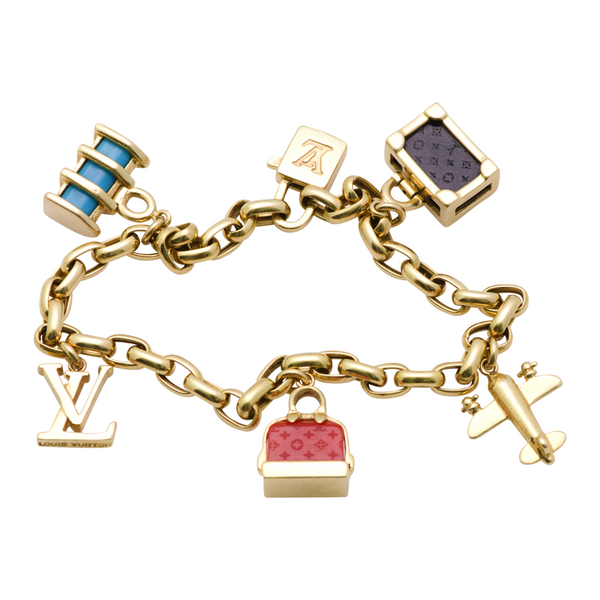 Louis Vuitton 18k gold charm bracelet