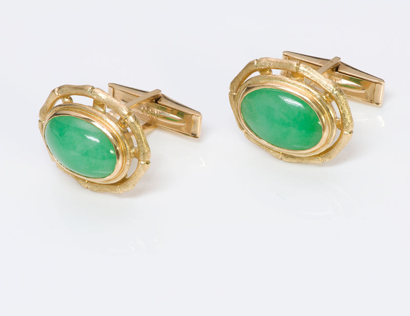Jade Gold Cufflinks