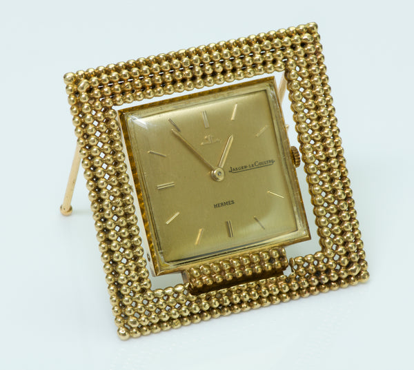 Jaeger Lecoultre Hermes Gold Travel Clock
