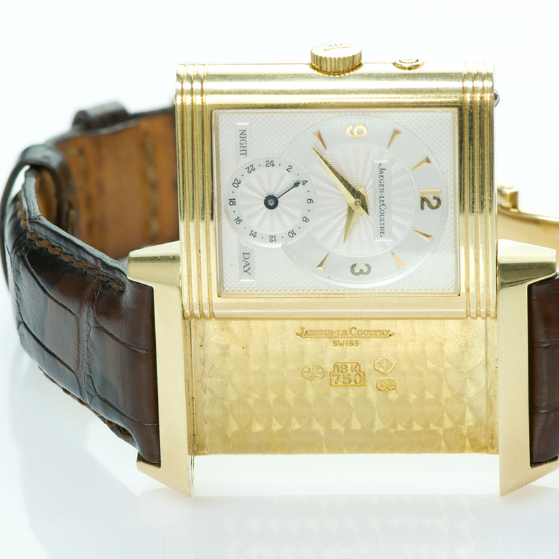Jaeger-LeCoultre Reverso Duo Day Night Gold Watch 270.1.54