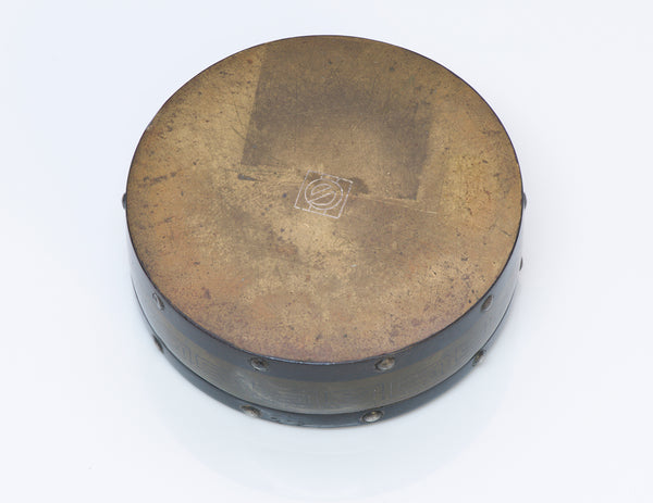 Antique Japanese Mix Metal Bronze Round Box