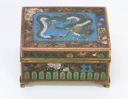 Antique Japanese Cloisonne Dragon Box