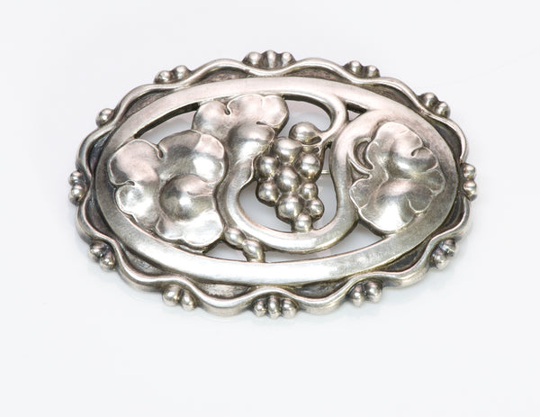 Georg Jensen Silver Grapevine Pin Brooch 177