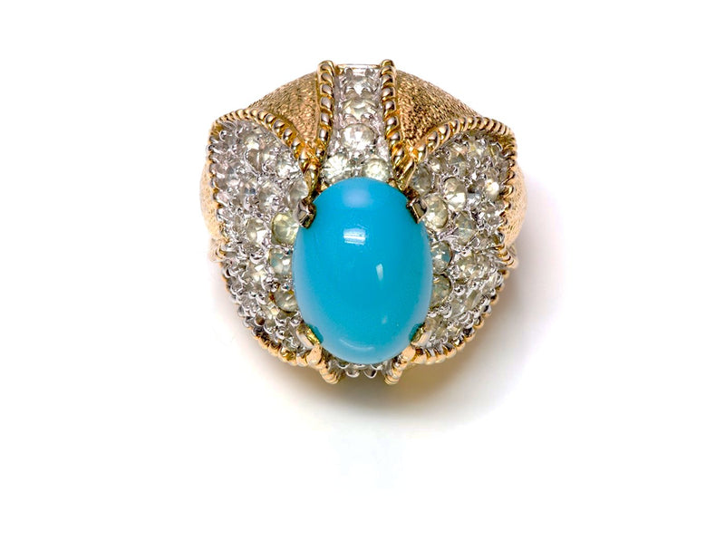 Jomaz Sterling Silver Faux Turquoise Cocktail Ring