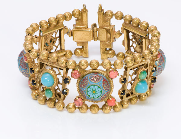 Juliana Delizza Elster Marrocan Matrix Enamel Bracelet