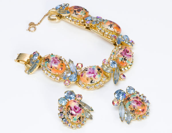 Juliana Multi Color Crystal Easter Egg Bracelet Earrings