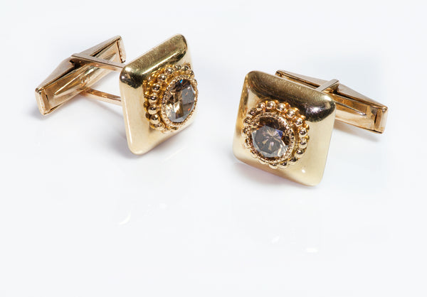 Julius Cohen 18K Gold Fancy Color Diamond Cufflinks