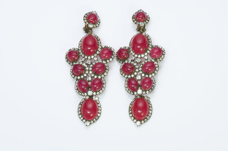 Kenneth Jay Lane Pink Crystal Earrings