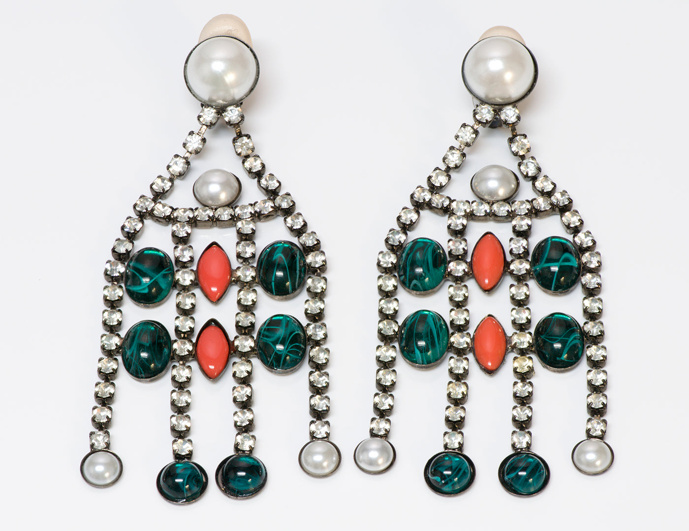 Kenneth Jay Lane KJL Chandelier Earrings