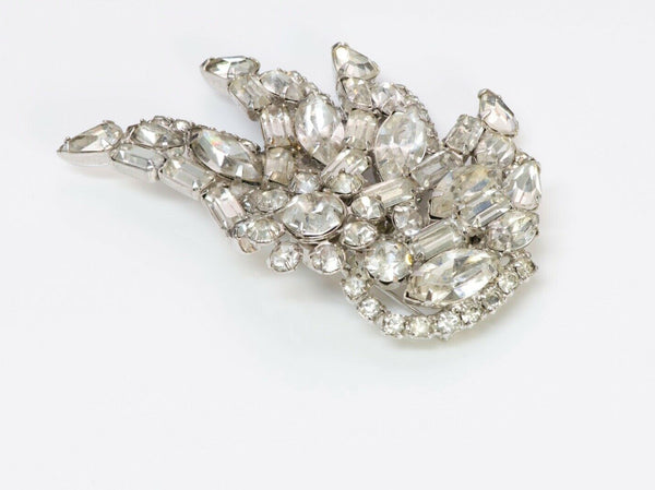 KRAMER New York Crystal Wing Feather Brooch