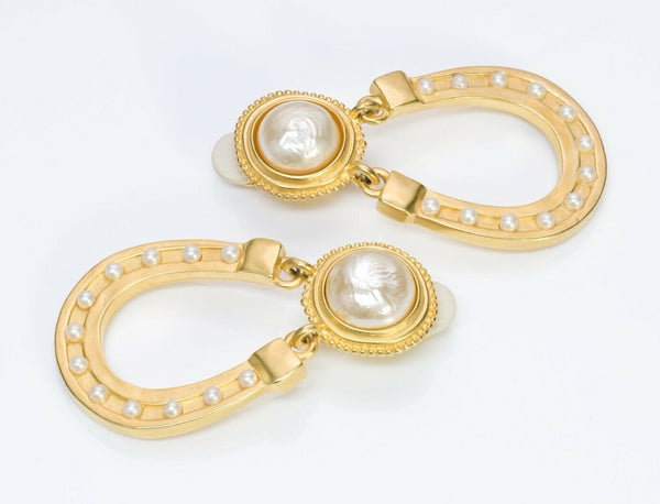 Karl Lagerfeld Paris Pearl Horseshoe Earrings gp