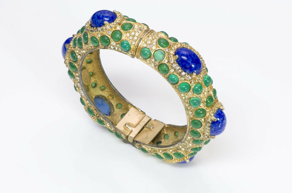 Kenneth Jay Lane KJL 1960's Moghul Style Bangle Bracelet1