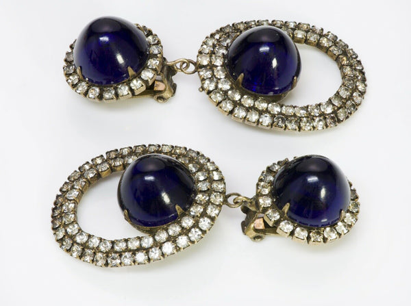 Kenneth Jay Lane KJL Blue Crystal  Earrings