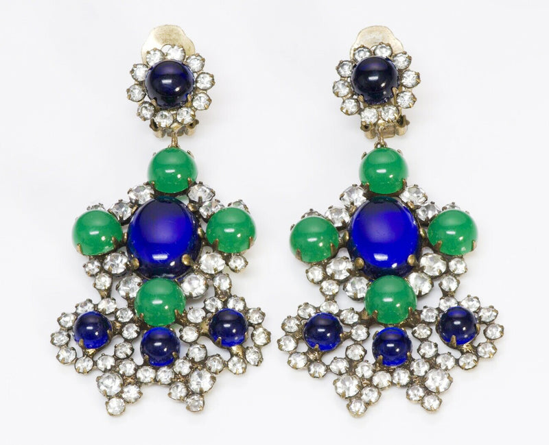 Kenneth Jay Lane KJL Crystal Chandelier Earrings