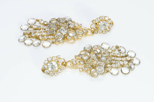 Vintage Kenneth Jay Lane KJL Crystal Chandelier Earrings