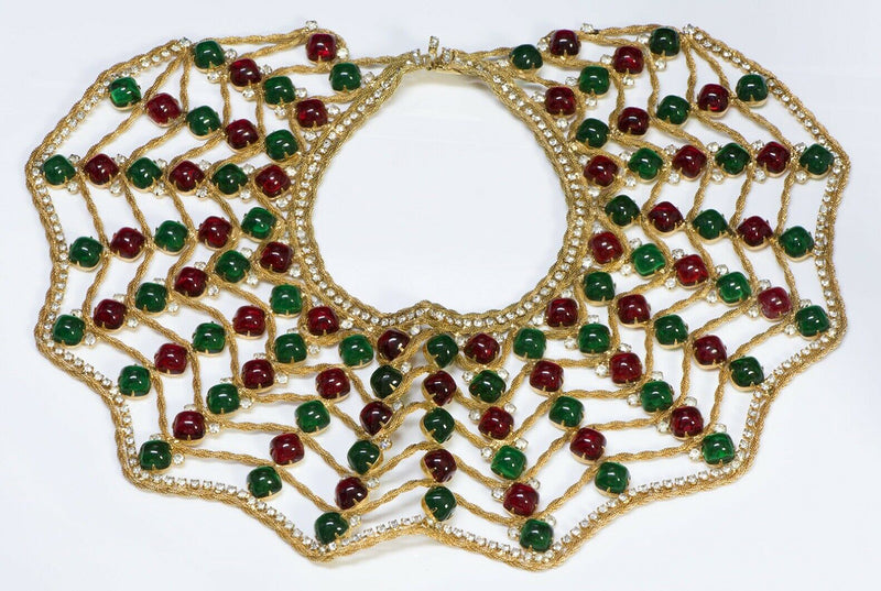 Kenneth Jay Lane KJL Spider Web Glass Collar Necklace