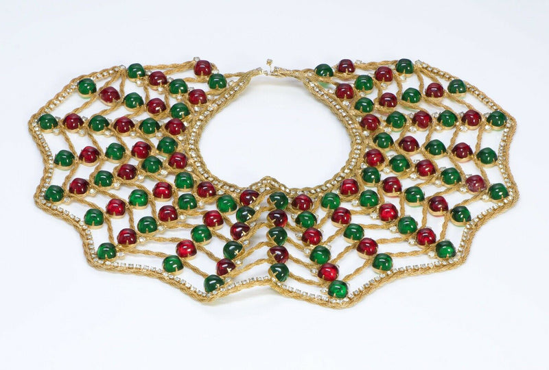 Kenneth Jay Lane KJL 1960 Spider Web Glass Collar Necklace
