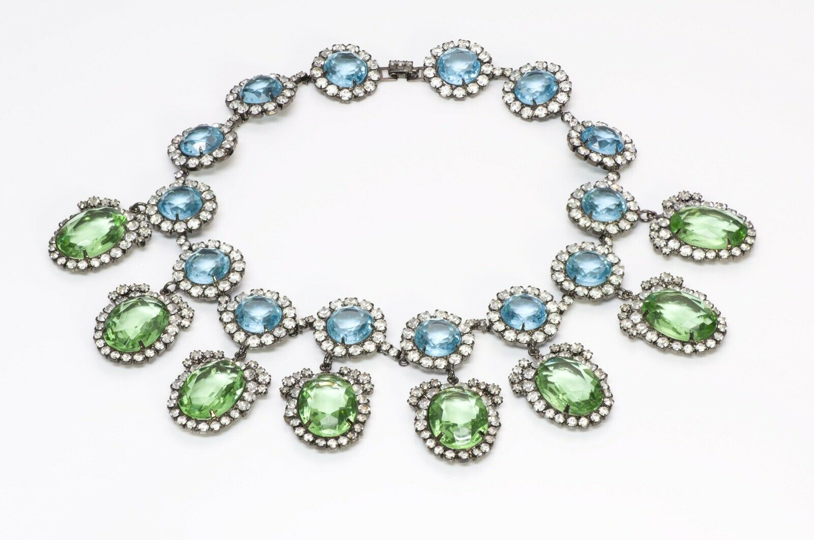 """Kenneth Jay Lane KJL """"Treasures of the Duchess"""" Crystal Necklace"""