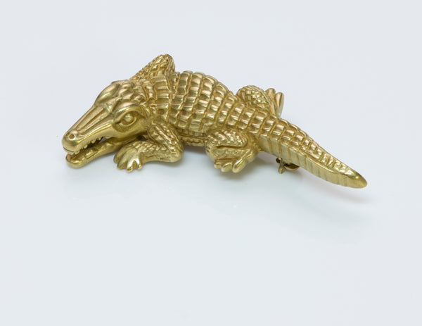 Barry Kieselstein-Cord Alligator Brooch