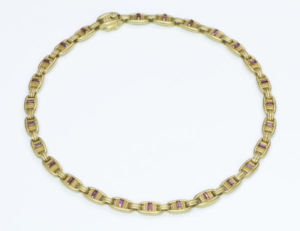 B. Kieselstein 18K Yellow Gold Pink Tourmaline Necklace
