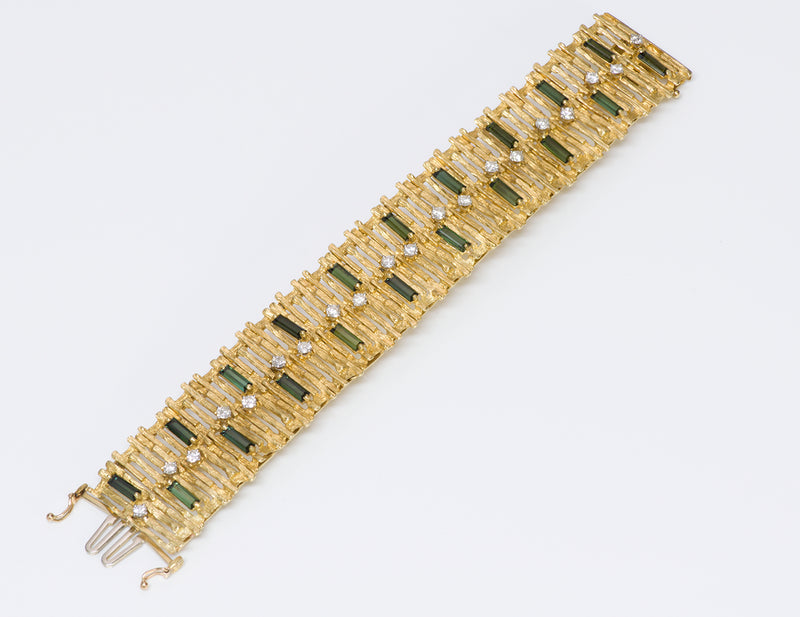 La Triomphe gold tourmaline and diamond bracelet.