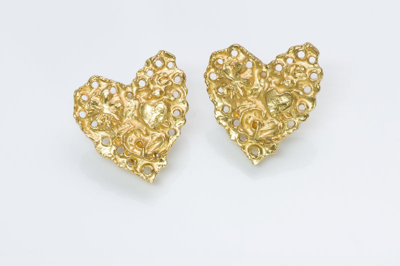 Christian Lacroix Heart Earrings