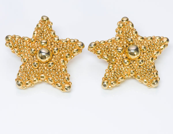 Christian Lacroix Gold Tone Starfish Earrings
