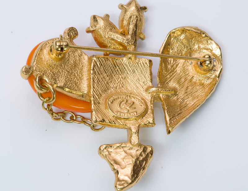 Christian Lacroix Heart Brooch
