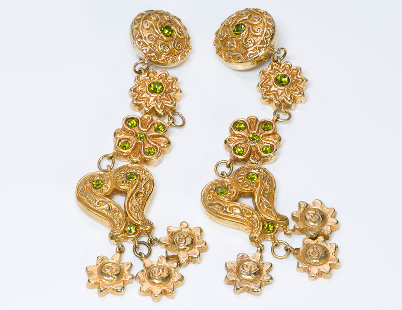 Christian Lacroix Couture Baroque Crystal Earrings