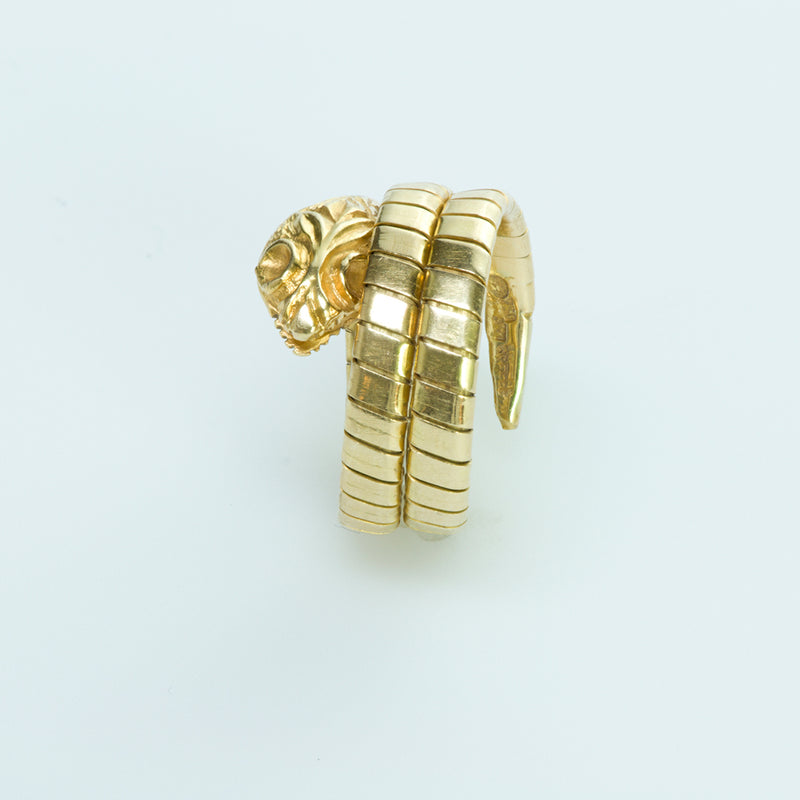 Lalaounis Snake Coil Tubogas 18K Yellow Gold Ring