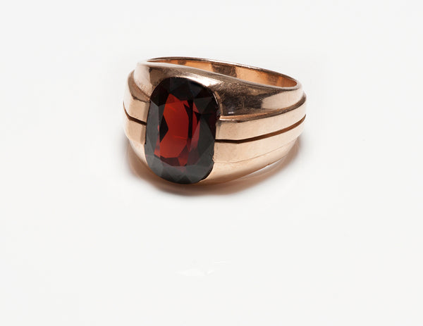 Lambert Brothers Gold Garnet Men's Ring