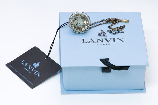 Lanvin Crystal Cocktail Ring Bracelet