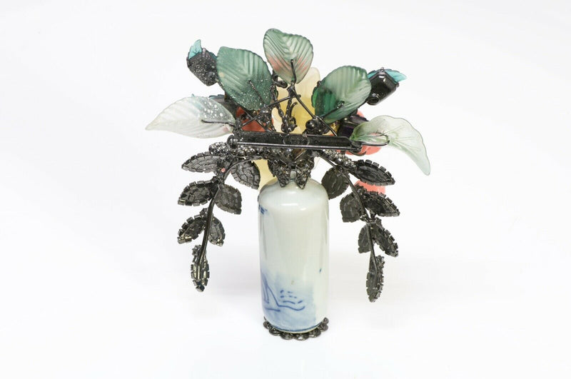 Lawrence VRBA Asian Flower Vase Bouquet Brooch 3