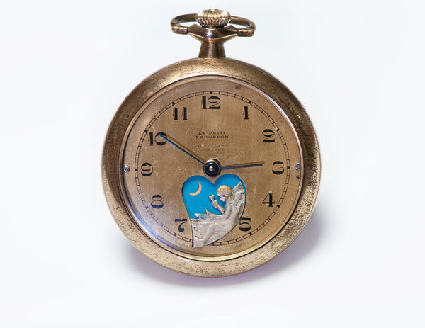 Le Petit Forgeron Antique Mechanical Animated Pocket Watch