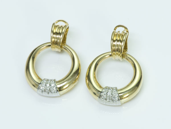 Leo Pizzo 18K Gold Diamond Earrings