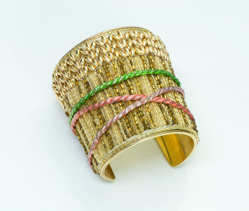 Lesage Paris Beaded Cuff
